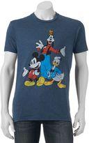 Men's Disney's Mickey Mouse, Goofy & Donald Duck Trio Tee