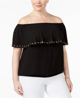 MICHAEL Michael Kors Size Grommet Off-The-Shoulder Top, A Macy's Exclusive Style