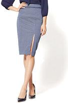New York & Co. 7th Avenue - Pencil Skirt - Navy - Daisy Print