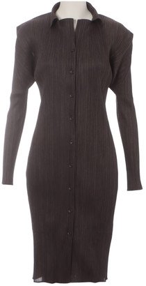 Issey Miyake Brown Synthetic Dresses