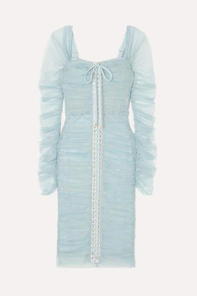 d434393d Dolce & Gabbana Blue Lace Dresses - ShopStyle