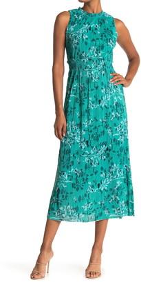 Taylor Pleated Knit Midi Empire Waist Dress
