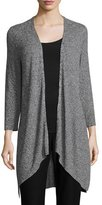 Eileen Fisher Tencel® Angled Cardigan, Black, Plus Size