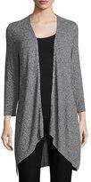 Eileen Fisher Tencel® Angled Cardigan, Black, Plus Size
