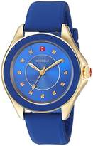 Michele Women's 'Cape' Swiss Quartz Stainless Steel and Silicone Casual Watch, Color:Blue (Model: MWW27A000026)