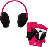 Animal Black Puppy Earmuffs and Mittens