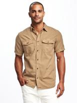 Old Navy Regular-Fit Utility-Pocket Shirt For Men