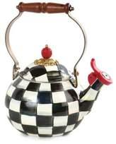 Mackenzie Childs Courtly Check Enamel Whistling Tea Kettle