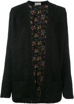 Saint Laurent floral lining cardigan