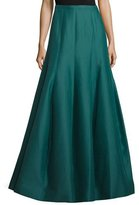 Halston High-Waist Structured Tulip Skirt, Evergreen