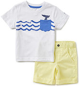 Nautica Little Boys 2T-4T V-Neck Nautical Graphic Short-Sleeve Tee & Solid Shorts Set