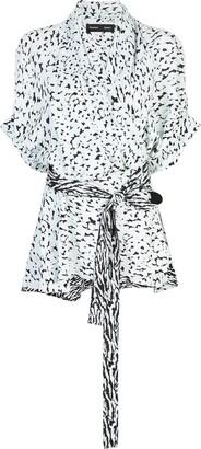 Proenza Schouler Short Sleeve Wrap Top
