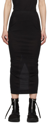 Rick Owens Lilies Black Heavy Jersey Straight Skirt