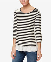 Sanctuary Teagan Striped Layered-Look Top