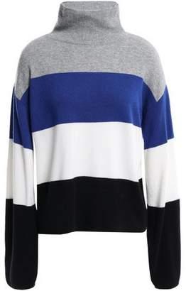 Veronica Beard Faber Color-block Cashmere Turtleneck Sweater