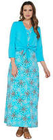 Denim & Co. Perfect Jersey Printed Maxi Dress with Shrug