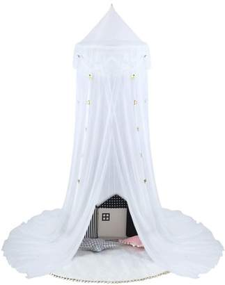 Bed Canopy Tent- Uarter Bed Canopy Yarn Mosquito Net Princess Play Tent Bedding for Bedrooms, Reading Corners, Sofas, Outdoors, with Star-shaped Design, White