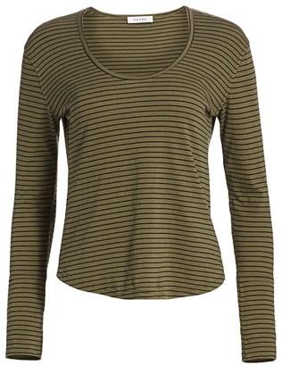 Frame Long Cuff Striped Long Sleeve T-Shirt