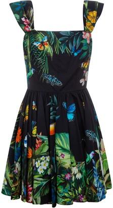 Dolce & Gabbana Floral Pleated Dress