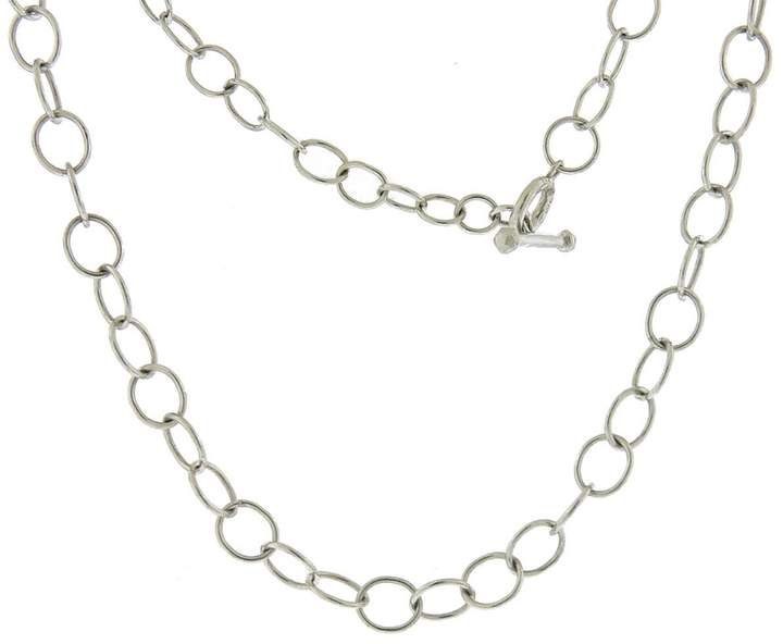 Cathy Waterman Lacy 15 1/2 Inch Chain Necklace - Platinum