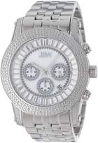 "JBW Men's JB-6219-A ""Krypton"" Sliver Stainless Steel Chronograph Diamond Watch"