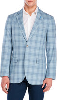 Tailorbyrd Blue Plaid Silk-Blend Sport Coat