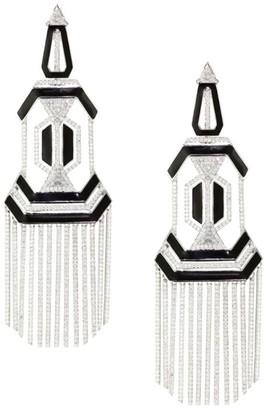 Nikos Koulis Oui Diamond, Enamel & 18K White Gold Chandelier Earrings