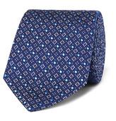 Turnbull & Asser 8cm Silk-jacquard Tie - Navy