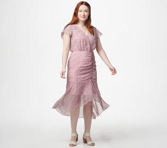 Sam Edelman Printed Ruched Midi Dress