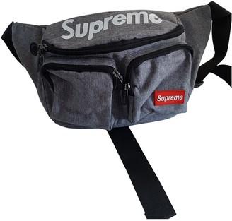 Supreme Grey Cotton Backpacks
