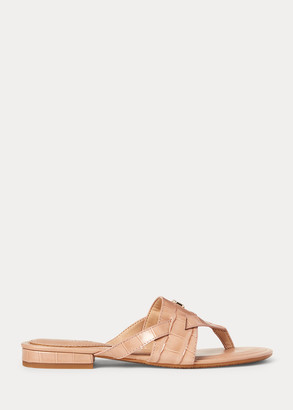 Ralph Lauren Rosalind Leather Sandal