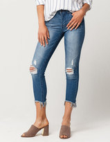 SKY AND SPARROW Fray Ankle Womens Skinny Jeans