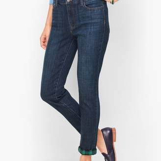 Talbots Flannel Cuff Ankle Jeans - Bowery Wash