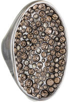 Alexis Bittar Crystal Concave Shield Ring
