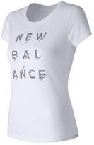 New Balance Women's WT71568 Sport Style Logo Tee
