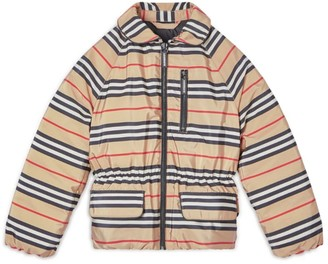Burberry Kids Icon Stripe Down Jacket (3-12 Years)