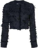 Kimora Lee Simmons cropped jacket with eyelash fringe
