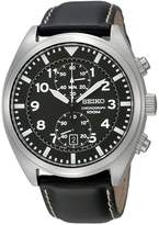 Seiko Men's SNN231P2 Leather Quartz Watch