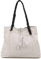 Henry Beguelin tassel appliques contrast shoulder bag - women - Leather - One Size