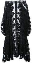 Simone Rocha patched sheer skirt