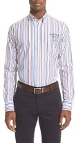 Paul & Shark Regular Fit Logo Stripe Sport Shirt