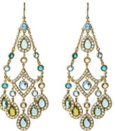 ABS Multi Color Crystal Chandelier Earrings