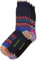 Robert Graham Two-Pair Graphic-Print Sock Set