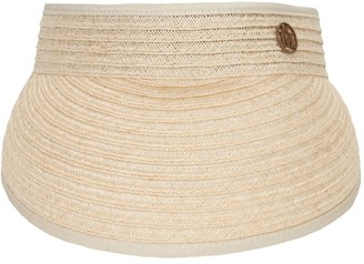 Maison Michel Patty Straw Visor