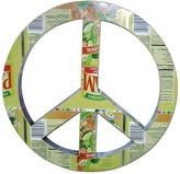 Karma Living Recycled Tin Peace Sign - Multi