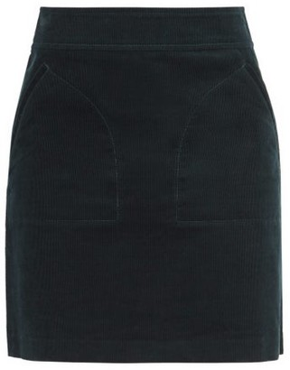 A.P.C. Shayana Cotton-corduroy Mini Skirt - Womens - Dark Green