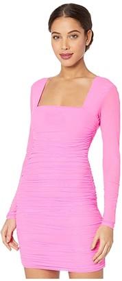 Bardot Tasha Mesh Dress (Pink Shock) Women's Dress