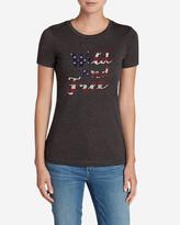 Eddie Bauer Women's Triblend Crew T-Shirt - Wild And Free In The USA