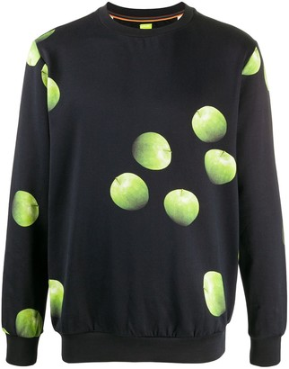 Paul Smith Apple-Print Cotton Sweatshirt