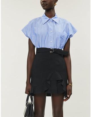 Sandro Amy woven mini skirt